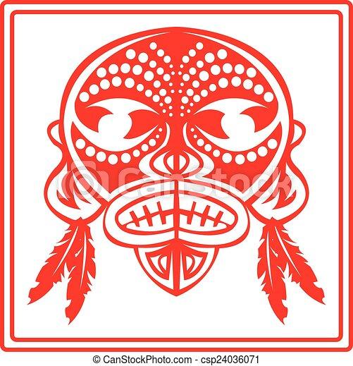 Máscara. - csp24036071