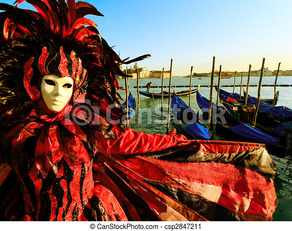 Mask in Venice, Italy  - csp2847211