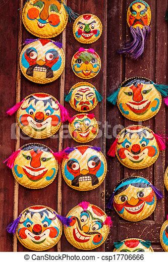 Mask in Vietnamese temple - csp17706666