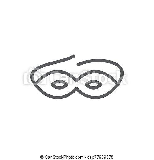 Mask line icon on white background - csp77939578