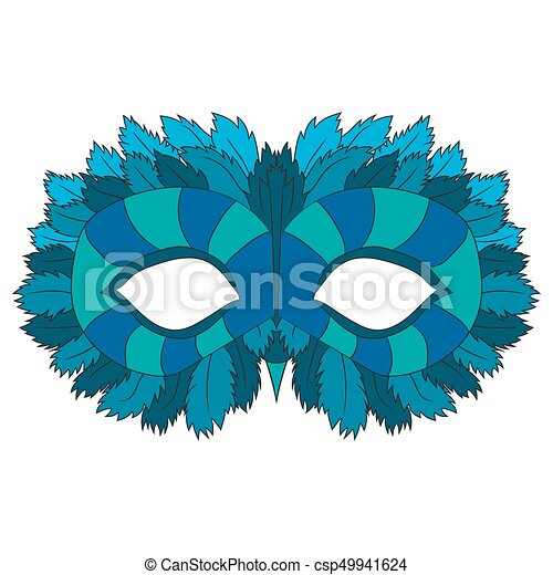 Mask of an owl. vector illustration. Drawing by hand. - csp49941624