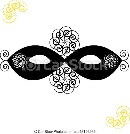 Mask on white background - csp45196266