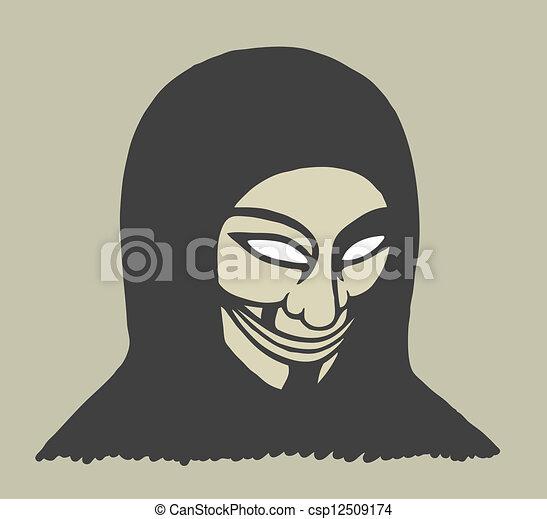 Masked man - csp12509174