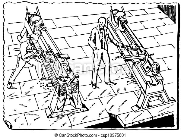 maskin, årgång, redskapen - csp10375801