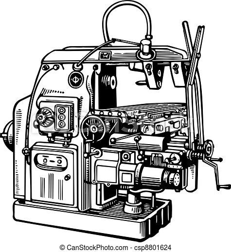 maskinen bearbetar - csp8801624