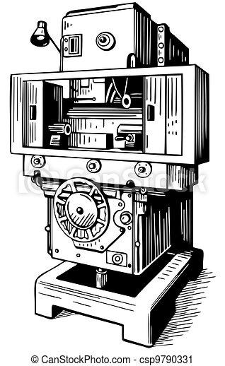 maskinen bearbetar - csp9790331