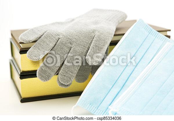 Masks are essential winter school gear for flu season - csp85334036
