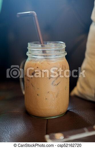 Mason jar with cold brew coffee - csp52162720