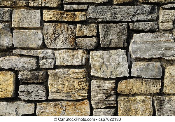 Masonry rock wall texture - csp7022130