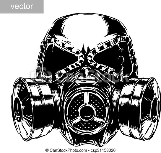 masque gaz, illustration - csp31153020