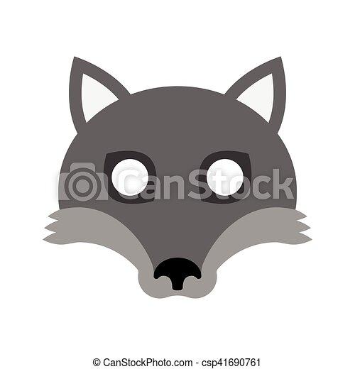 Masque halloween loup dessin anim carnaval halloween masque symbole illustration - Masque loup a imprimer ...