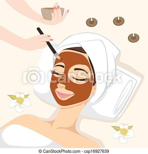 masque, traitement, chocolat - csp16927639