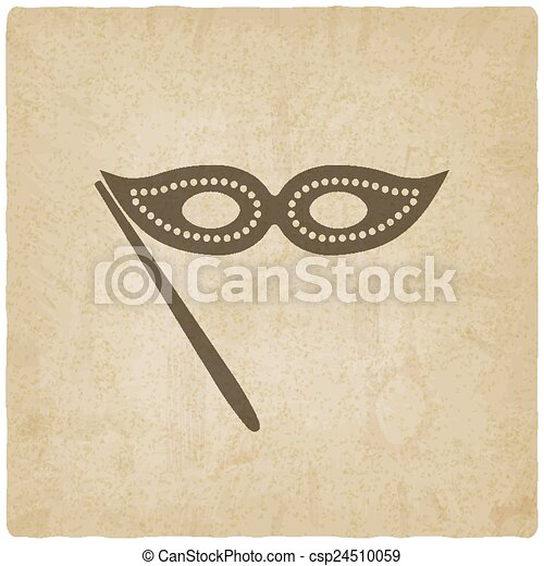 Masquerade mask symbol old background - csp24510059