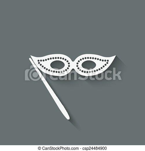 Masquerade mask symbol - csp24484900