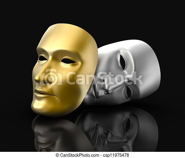 masques, concept, théâtre - csp11975478