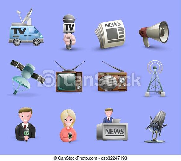 Mass Media Icons Set - csp32247193
