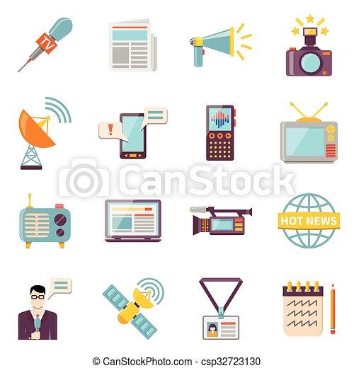 Mass Media Icons Set - csp32723130