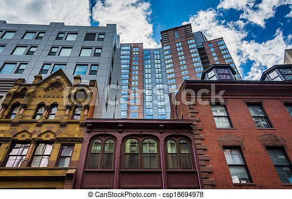 massachusetts., anders, architectuur, boston - csp18694978