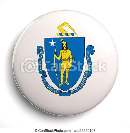 Massachusetts flag - csp24840107