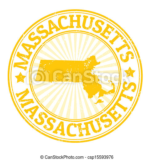Massachusetts stamp - csp15593976