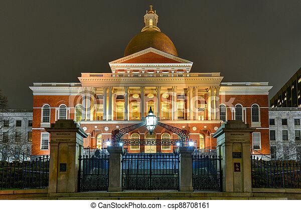 Massachusetts State House - Boston. - csp88708161