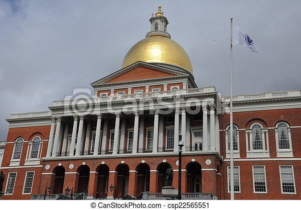 Massachusetts State House - csp22565551