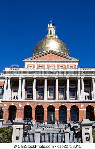 Massachusetts Statehouse - csp22753015