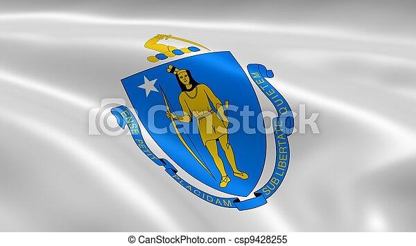 Massachusite flag in the wind - csp9428255
