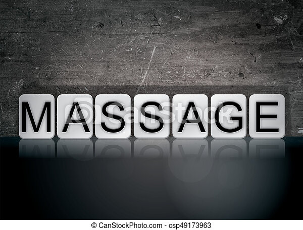 Massage Concept Tiled Word - csp49173963