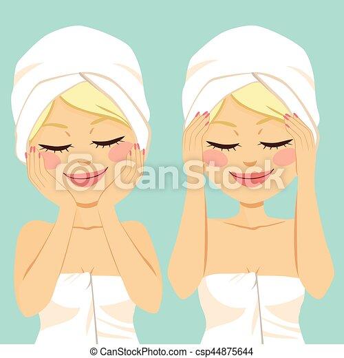 massage facial - csp44875644