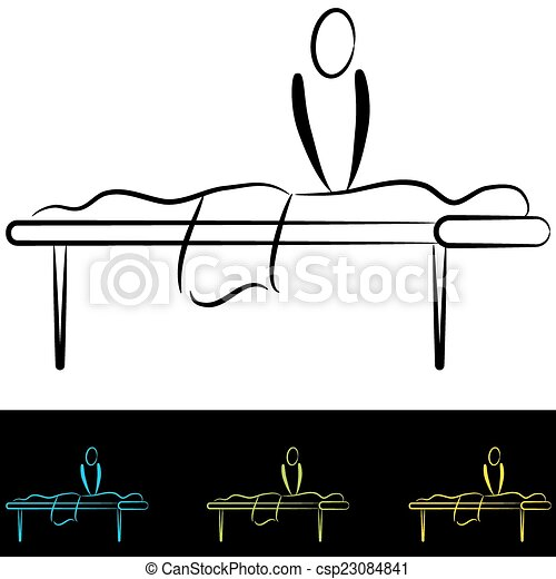 Massage Table - csp23084841