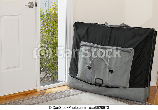 Massage Table in a Carrying Case - csp8628973