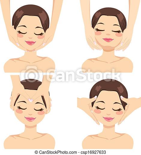 massagem facial, cobrança - csp16927633