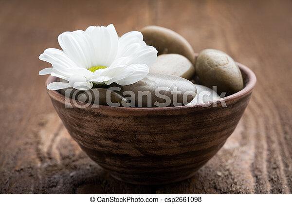 massagem, pedras - csp2661098