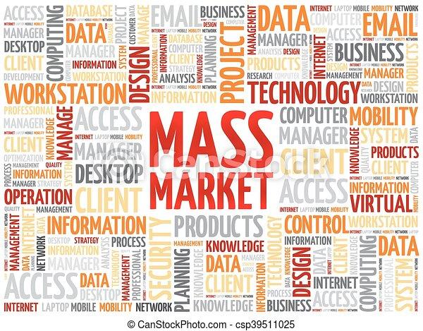Massenmarktwortwolke - csp39511025