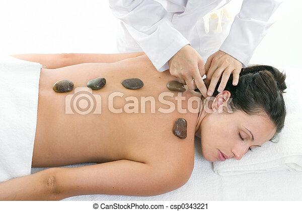 massera, kvinnlig, mottagande, behandling, avkopplande - csp0343221