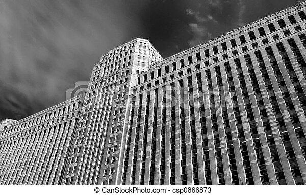 Massive Skyscraper (B&W) - csp0866873