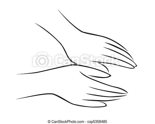 masszázs, kéz - csp5358485