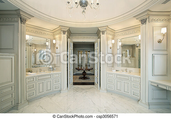 Master bath in new construction home - csp3056571
