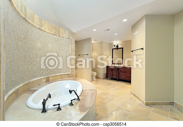 Master bath in new construction home - csp3056514