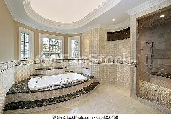 Master bath in new construction home - csp3056450