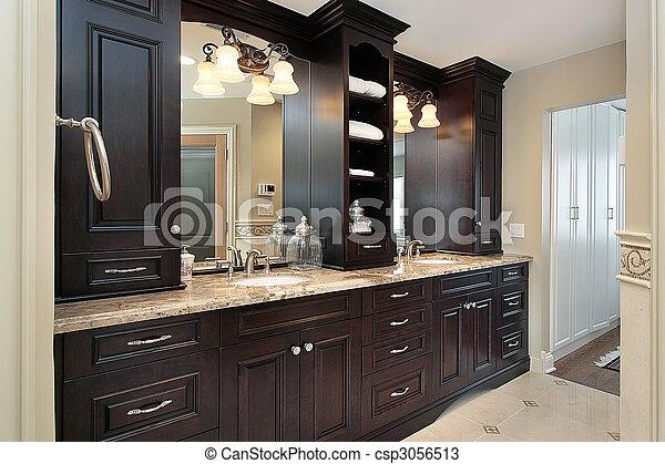 Master Bath Vanity Vanity In Master Bath Of Large Luxury Home Canstock