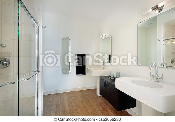 Master bathroom in condominium - csp3056230