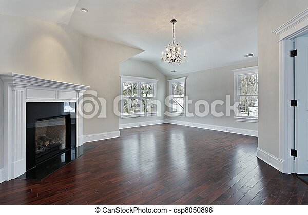 Master bedroom with fireplace - csp8050896