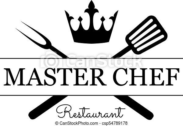 Master Chef emblem - csp54789178