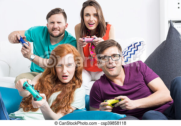 Masters of video games - csp39858118