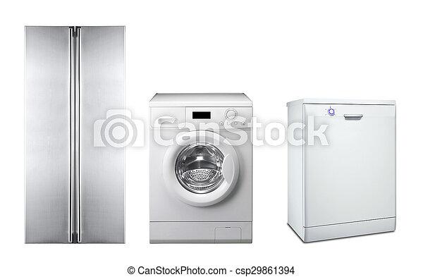 maszyna, zmywarka do naczyń, myć, chłodnia - csp29861394
