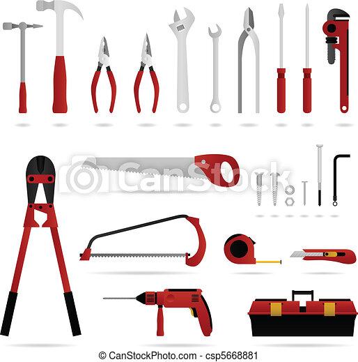 matériel, outillage, ensemble, vecteur - csp5668881