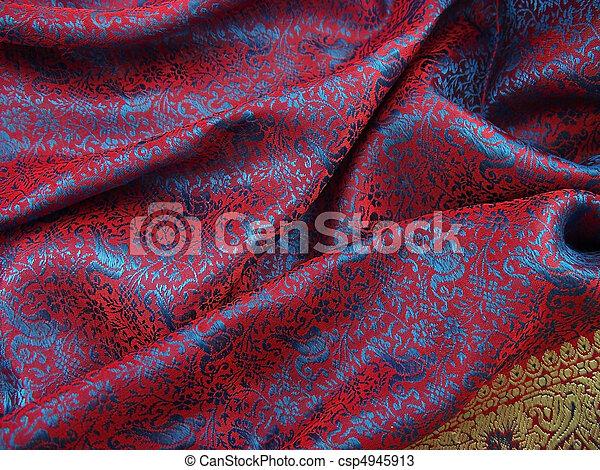matériel, sari, indien, écharpe, 4 - csp4945913