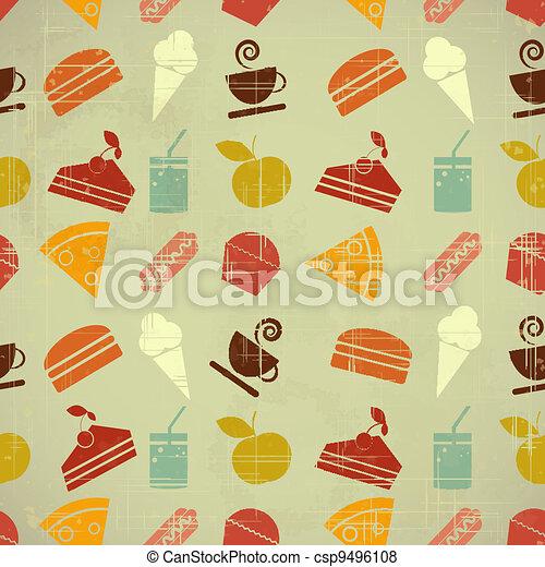 mat färga, seamless, bakgrund - csp9496108